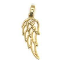 SOLID 18K YELLOW GOLD PENDANT MEDAL, STYLIZED ANGEL WING, WINGS, MADE IN... - $159.00