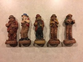 5 1940's Syroco Clay figures Fiddler Band Vintage Collectibles - $50.00
