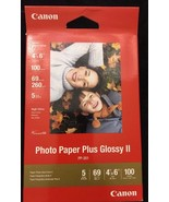 Canon Photo Paper Glossy Plus II PP201 4x6 Inches 100 Sheets 69lbs NEW - $14.80