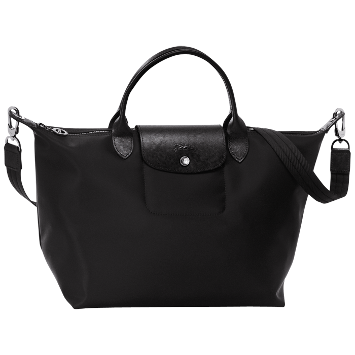 reputable site 686bf 9a42a Big blacksm1. Big blacksm1. Previous. Longchamp Le Pliage Neo Nylon Black  Handbag with Shoulder Strap Size Medium