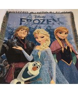 Disney Frozen Tapestry Throw 48x60 Blanket Wall Hanging Features Elsa An... - $18.46