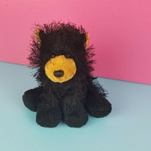 Ganz Webkinz Plush Black Bear HM004 Stuffed Animal Shaggy Bean Bag No Co... - $10.39