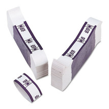 Color-Coded Kraft Currency Straps, Dollar Bill, $50, Self-Adhesive, 1000... - $38.60