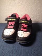 Vintage Nike Air Jordan 23 Baby Infant Sneakers Size 9c Black White Pink... - $9.50