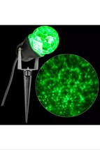 Gemmy LightShow Green Projection Kaleidoscope Spotlight Stake Christmas ... - $46.74