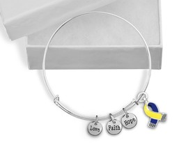 12 Blue & Yellow Ribbon Awareness Retractable C... - $90.00