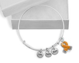 12 Orange Ribbon Awareness Retractable Charm Br... - $90.00