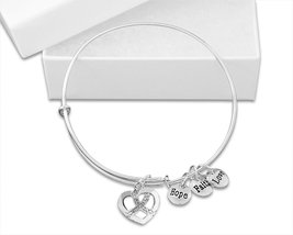12 White Crystal Ribbon Retractable Charm Bracelets in a Gift Box (Whole... - $90.00