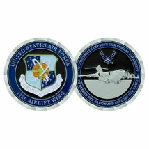 "AIR FORCE 172ND AIRLIFT WING 1.75"" CHALLENGE COIN - $16.24"