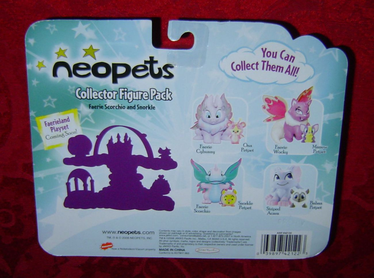 Neopets Collector Figure Pack Faerie Scorchio and Snorkle series 1 2008