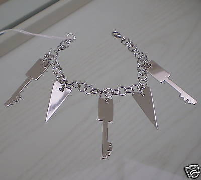 Bracelet in Sterling Silver 925 with Keys Hearts