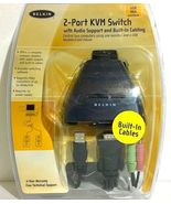 Belkin 2-Port KVM Switch with Audio Support and Built-in Cabling for USB... - £36.80 GBP
