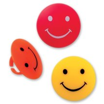 DecoPac Smiley Face Cupcake Rings (12 Count) - $2.49