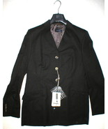 NWT Piazza Sempione Blazer Jacket 14 Dark Brown Wool New Italy Designer ... - $998.00