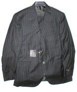 New Mens 56 NWT Designer Corneliani Suit Italy Pinstripes Black 46 White... - $2,300.00
