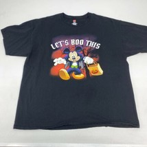 Mickey Mouse Halloween 2018 T Shirt Mens 2XL Short Sleeve Black Preshrunk Cotton - $17.99