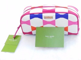 NWT NEW Kate Spade Bow Tile Berrie Pouch PWRU4252  Cosmetic Case Make Up... - $32.75