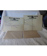 1918-19 2 Western Union Cablegrams France to Boston French Line Ship La ... - $15.00