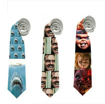 necktie jaws horror movies chucky the shining Jack Nicholson jaw hallowe... - $22.00