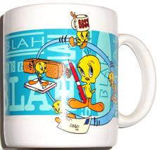 Looney Tunes Tweety Coffee Mug Cup Break Sylvester 1996 Retired  - $39.95