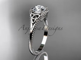 Platinumn celtic trinity knot wedding ring, engagement ring CT7375 - $1,295.00