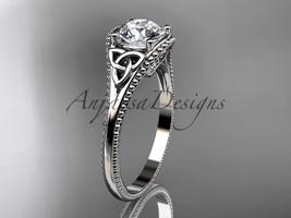 Platinumn celtic trinity knot wedding ring, engagement ring CT7375 - $1,295.00