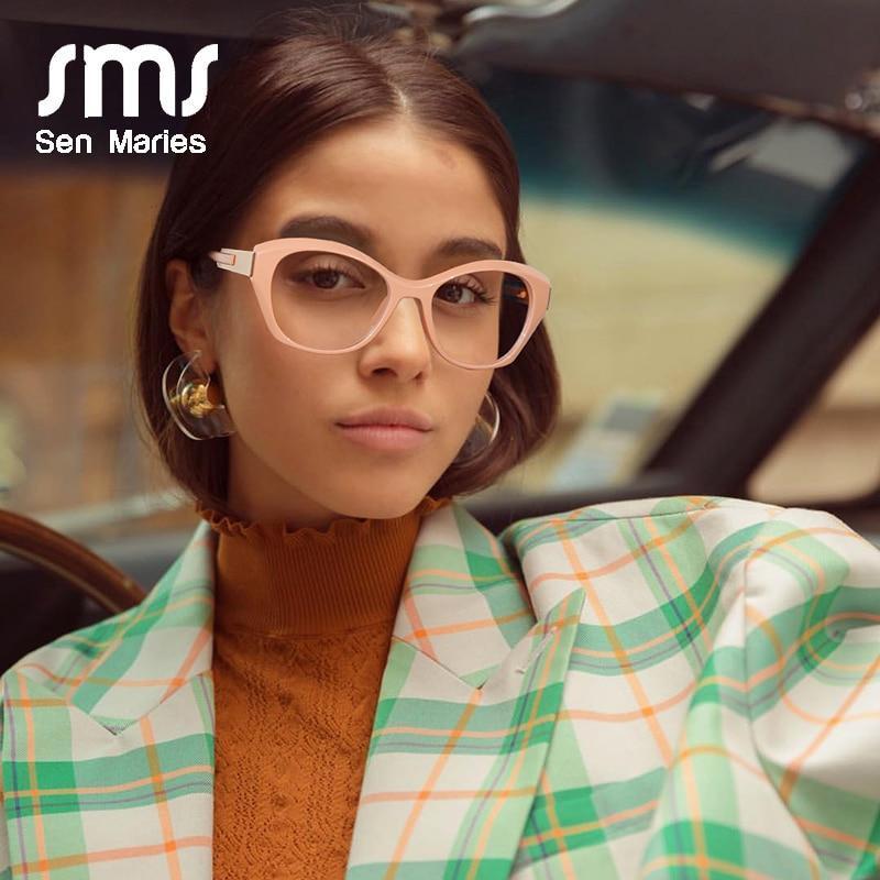 Cat eye glasses frames women men luxury brand fashion optical clear lens goggle computer glasses