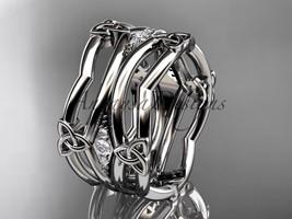 Platinum  celtic trinity knot, triquetra ring, engagement ring CT7351B  - $1,550.00