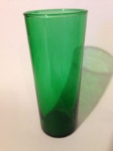 1 Vintage Forest Green 6 3/4in. Drinking Glass ... - $8.91