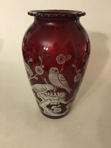 Vintage Anchor Hocking Ruby Red Glass Hoover And Similar Items
