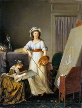 The Interior by Marie Victoire Lemoine 1796 French Old Masters 13x17 Print - $39.59