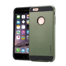 For iPhone 6/6s Army green Brushed Texture PC + TPU Protective Case - $6.90