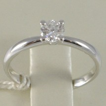 White Gold Ring 750 18K, Solitaire, Shank Rounded, Diamond Carat 0.32 image 2