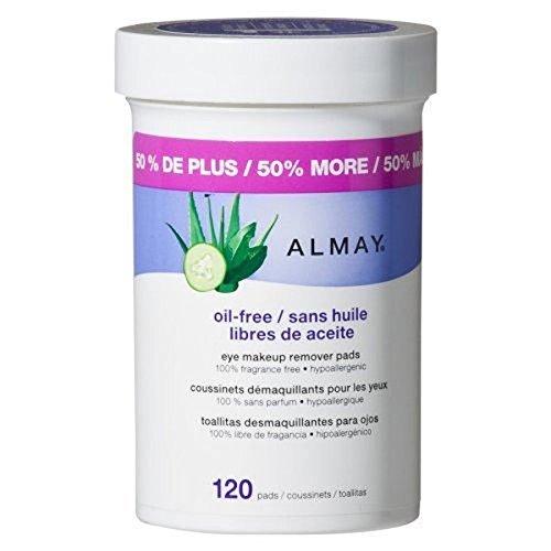Almay Eye Makeup Remover Pads, Oil-Free 120 ea