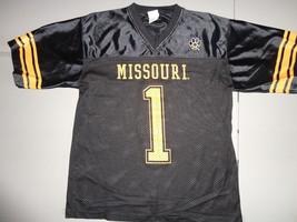 Black #1 Missouri Tigers NCAA Screen Football Jersey Adult M Nice Free U... - $16.71