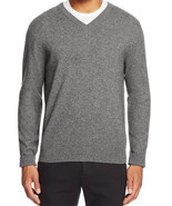 Bloomingdales Men's V Neck Cashmere Sweater Blue Haze Size XXL MyAFC - $101.08 CAD
