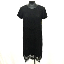 Cece By Cynthia Steffe Dress Lace Overlay Shift BLACK SIZE 6 MyAFC - $62.99