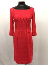 Nanette Lepore Dress Bateau Neck 3/4 Sleeve Inverted Pleated Shift Pink ... - $166.15 CAD