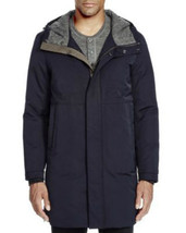 VINCE Mens Coat Hood Long Down Filled Bloomingdale's Exclusive Navy Size M XL - $311.99