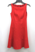 NANETTE LEPORE DRESS SLEEVELESS FIT FLARE LOVE LACE POPPY RED SIZE 0 MyAFC - $131.29 CAD
