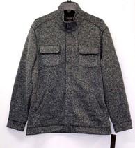 Tasso Elba Mens Full Zip Barn Jacket Sweater Marled Black Size L MyAFC - ₨2,089.39 INR