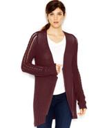 Rachel Rachel Roy Waffle Knit Draped Sweater Shawl Collar Cardigan Size ... - $44.99