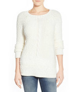 Sanctuary Sweater New Snuggle Cable Knit Winter White Size XS S MyAFC - $488,43 MXN
