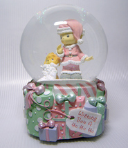 Precious Moments Musical Snow Globe WISHING YOU... - $22.00