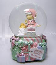 Precious Moments Musical Snow Globe WISHING YOU A HO HO HO 2003 Enesco - $22.00
