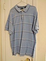 "Izod Men's L S/S Shirt Blue w/Stripes (Embroidered ""IZOD"" on Sleeve) 100... - $6.02"