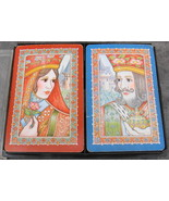 Hoyle Plastic Coated Playing Cards Hallmark King and Queen Set - $12.99