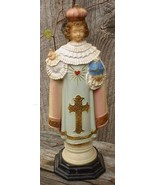 Vintage Celluloid Infant Jesus o Prague Catholic Statue - $18.99