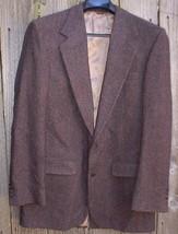 Bill Blass Gray Herringbone Tweed Vintage Jacket Two Button Wool? - $35.00