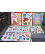 8 General Preschool Cardboard Puzzles 1990's Golden PuzzlePatch - $18.00